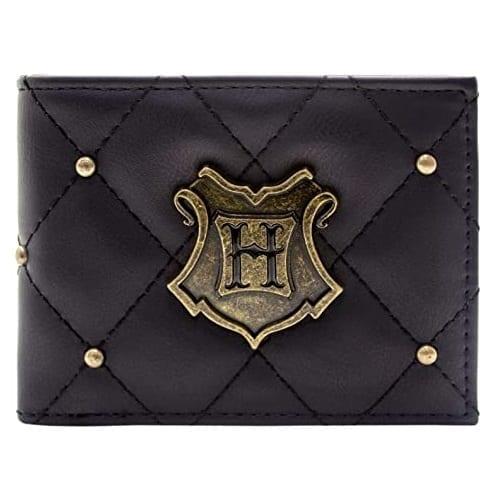 Billetera Hogwarts PT Harry Potter Fantasia Negra Con Logo Metaiico (copia)