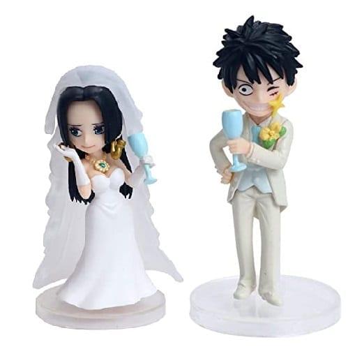"Estatuilla Luffy & Hancock PT One Piece Anime Pareja Matrimonio 7"" (copia)"