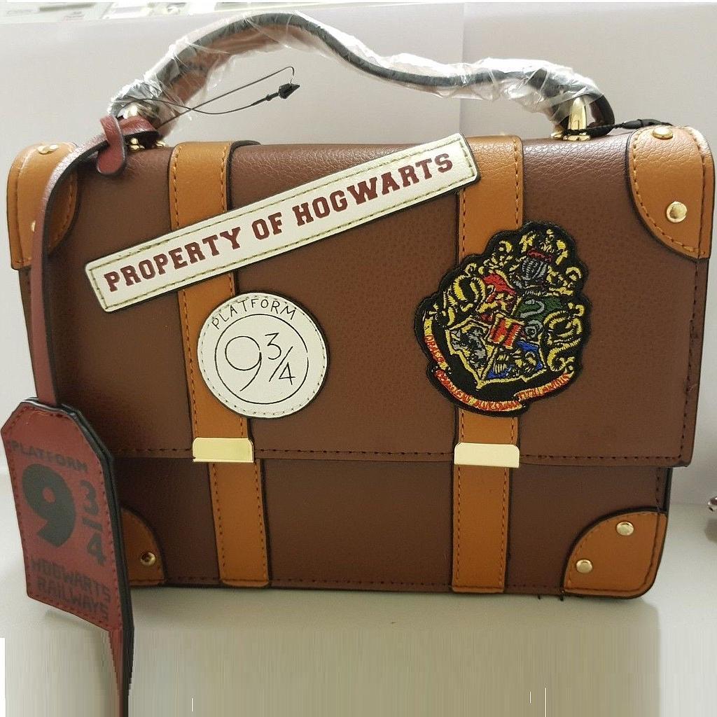 Bolso Primark Harry Potter Fantasía Café Propiedad de Hogwarts 9 3/4 Mediano (Copia)