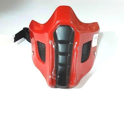 Cubre Tapabocas Ermac CStudio Mortal Kombat Polietileno Calibre 60 Termoformado Rojo