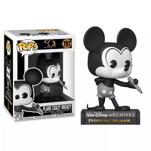 Figura Mickey Mouse Funko POP Disney Plane Crazy 50th Archives