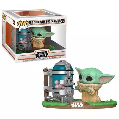 Figura The Child Funko POP The Mandalorian Star Wars (Baby Yoda) Frasco de Huevos