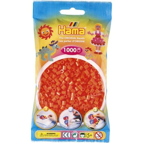 Cuencas Hamma Beads Pictograma Didácticos Tamaño Mediano Paquete 1000 Piezas Color Naranja