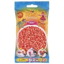Cuencas Hamma Beads Pictograma Didácticos Tamaño Mediano Paquete 1000 Piezas Color Rojo Pastel