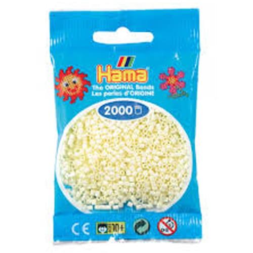 Cuencas Hamma Beads Pictograma Didácticos Tamaño Mini Paquete 2000 Piezas Color Crema
