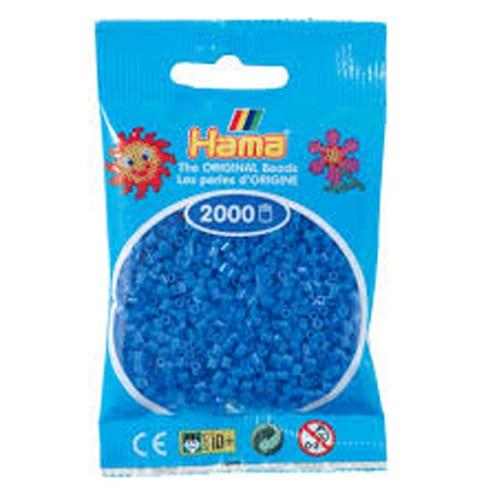Cuencas Hamma Beads Pictograma Didácticos Tamaño Mini Paquete 2000 Piezas Color Azul Claro