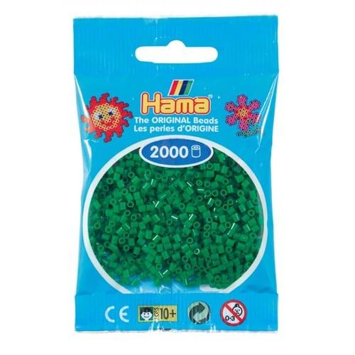 Cuencas Hamma Beads Pictograma Didácticos Tamaño Mini Paquete 2000 Piezas Color Verde