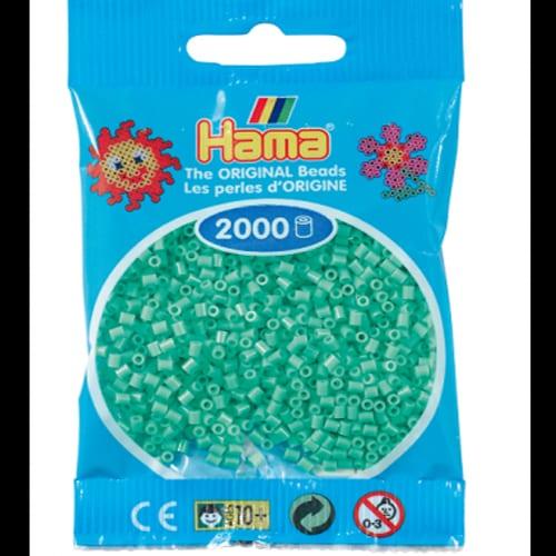 Cuencas Hamma Beads Pictograma Didácticos Tamaño Mini Paquete 2000 Piezas Color Verde Claro