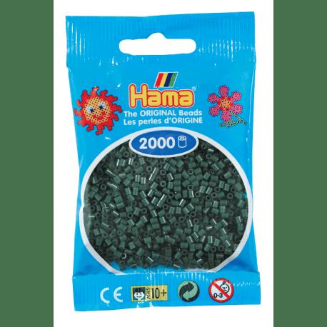 Cuencas Hamma Beads Pictograma Didácticos Tamaño Mini Paquete 2000 Piezas Color Verde Oliva