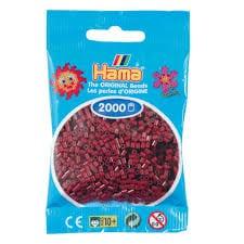 Cuencas Hamma Beads Pictograma Didácticos Tamaño Mini Paquete 2000 Piezas Color Rojo Borgoña