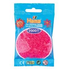 Cuencas Hamma Beads Pictograma Didácticos Tamaño Mini Paquete 2000 Piezas Color Fucsia Neòn