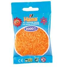 Cuencas Hamma Beads Pictograma Didácticos Tamaño Mini Paquete 2000 Piezas Color Naranja Neon