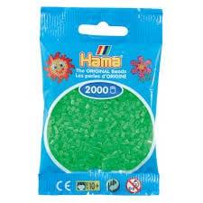 Cuencas Hamma Beads Pictograma Didácticos Tamaño Mini Paquete 2000 Piezas Color Verde Florecente