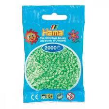 Cuencas Hamma Beads Pictograma Didácticos Tamaño Mini Paquete 2000 Piezas Color Verde Pastel