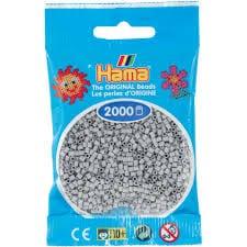 Cuencas Hamma Beads Pictograma Didácticos Tamaño Mini Paquete 2000 Piezas Color Gris Claro