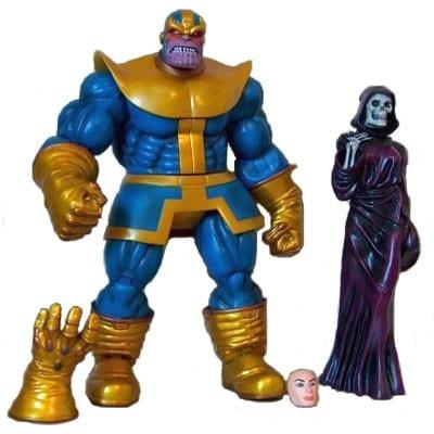 Figura Thanos y la Muerte Marvel Select Marvel 8''