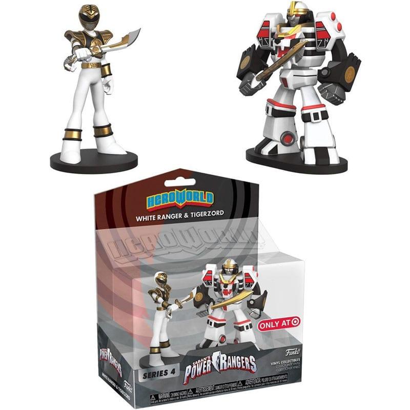 Figura Ranger Blanco y Megazord Funko Hero World Power Rangers Anime Exclusivo Target
