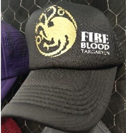 Gorra de Malla Casa Targaryen TooGEEK Game of Thrones Series Casa Targaryen Fire and Blood