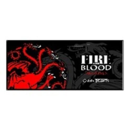 Mug Cerámico Targaryen Jaimito Juego de Tronos Series Fire and Blood Negro