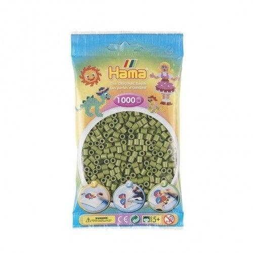 Cuencas Hama Beads Pictograma Didácticos Tamaño Mediano Paquete 1000 Piezas Color Verde Oliva