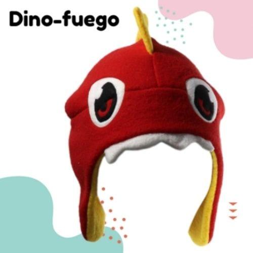 Gorro Dino - Fuego Hatsy Soy Fan Dinosaurios Fantasía