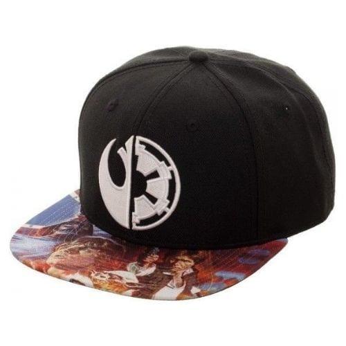 Gorra Logo Imperio y Rebelión Bioworld Star Wars Plana