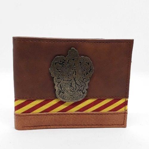 Billetera Gryffindor PT Harry Potter Fantasía Eco cuero emblema metálico