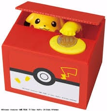 Alcancía Pikachu Mischief Saving Box Pokémon Anime Ladrón de Monedas