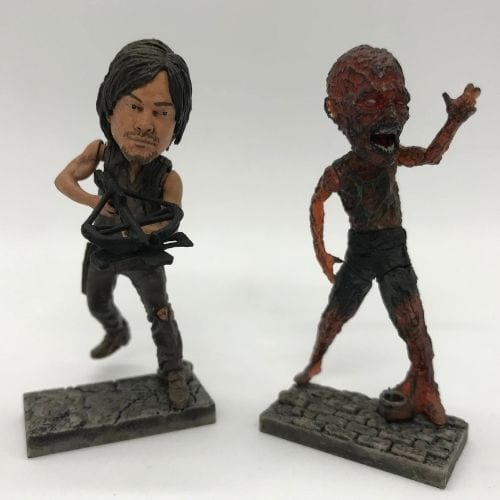 Figura Miniatura Daryl y Zombie PT The Walking Dead Series