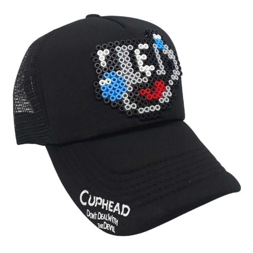 Gorra Malla Mugman Pictograma Cuphead Videojuegos Pixel Art