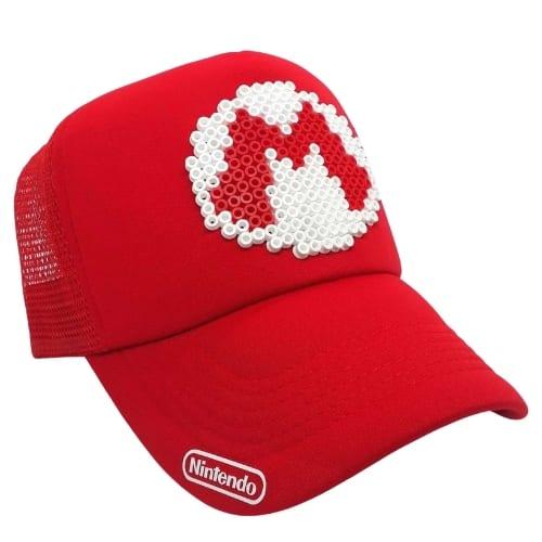 Gorra Malla Logo Mario Super Mario Videojuegos Pixel Art