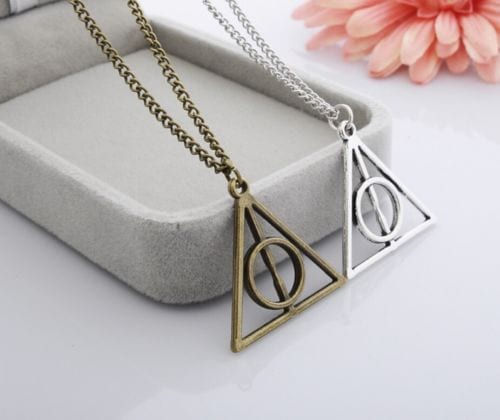 Collar Metálico Reliquias de la Muerte TooGEEK Harry Potter Fantasía