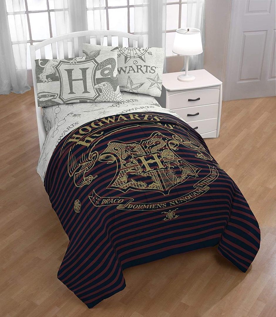 Juego Completo de Cama Harry Potter Hogwarts  (Entrega de 4 a 5 semanas una vez realizado el pago)
