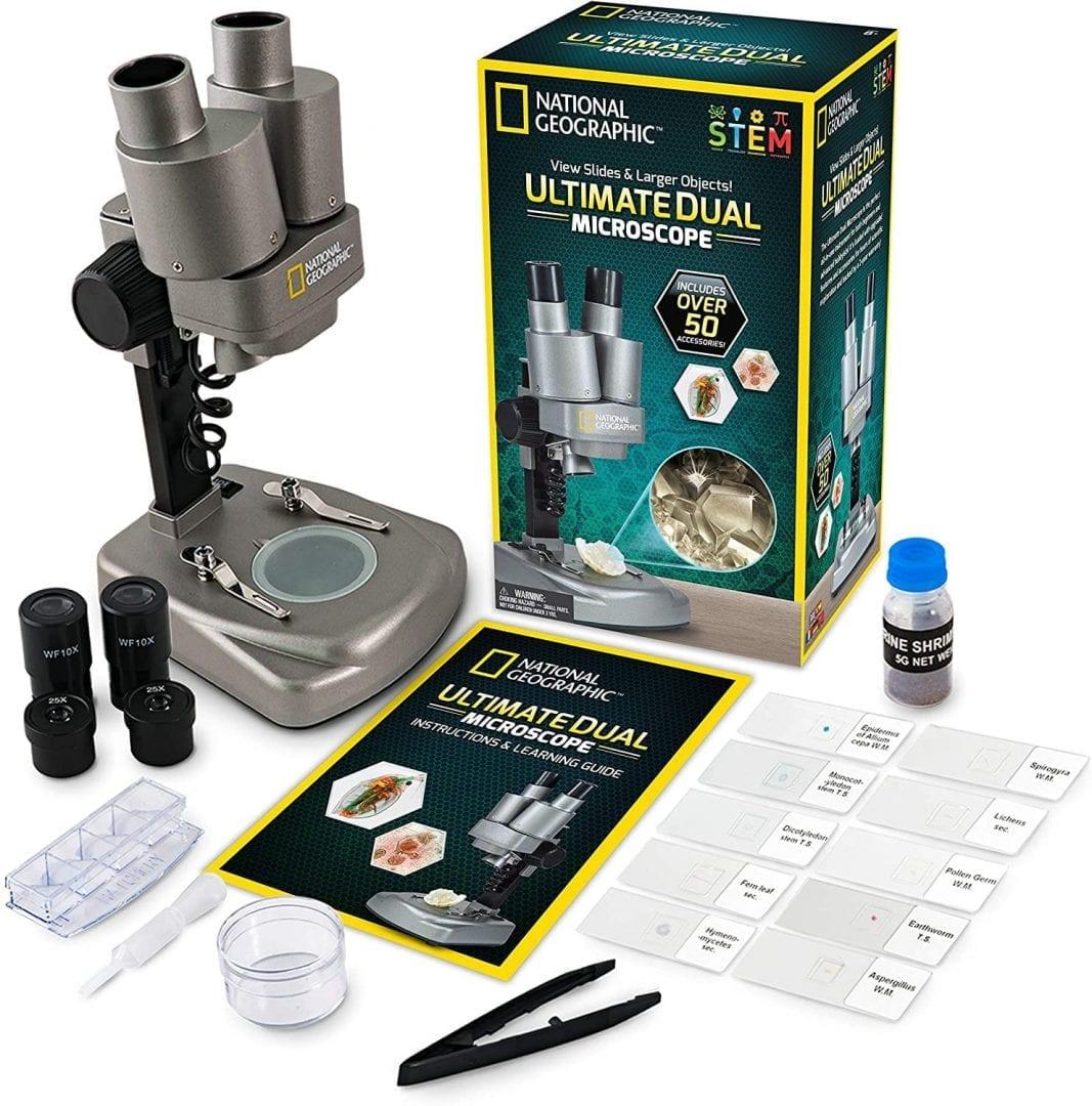 Microscopio de laboratorio de National Geographic con más de 50 accesorios  (Entrega de 3 a 4 semanas una vez realizado el pago)