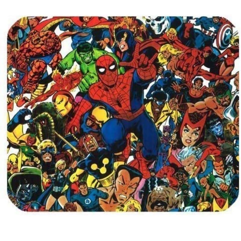 Pad mouse  Superhero Spider-Man Marvel Alfombrilla de ratón rectangular de goma antideslizante para juegos
