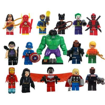 Marvel Comics - Figuras Tipo Lego sin Caja Marvel