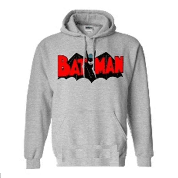 DC Comics - Hoodie Jaimito Batman Logo Clásico Fondo Gris (M)