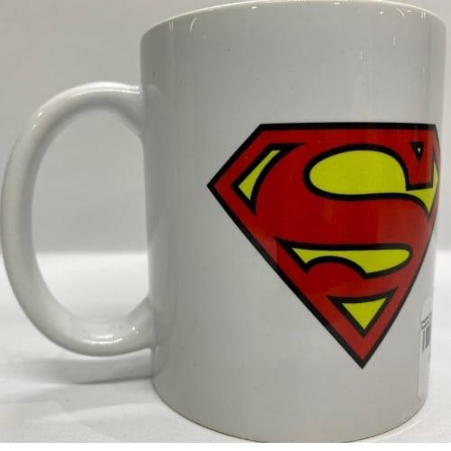 Mug en Cerámica Superman PT Superman DC Comics Blanco con Logo