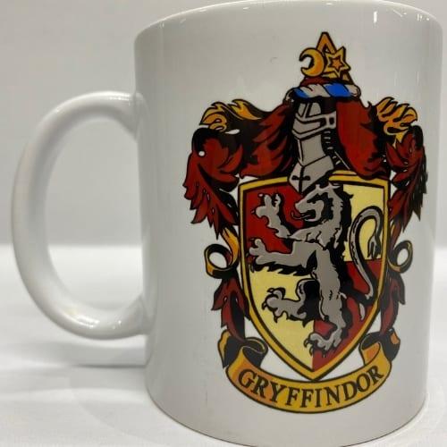 Mug en Cerámica Harry Potter PT Gryffindor Fantasia Blanco Logo Escudo Gryffindor