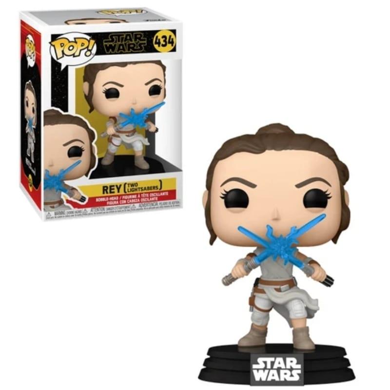Figura Rey Funko POP Star Wars Two Lightsabers
