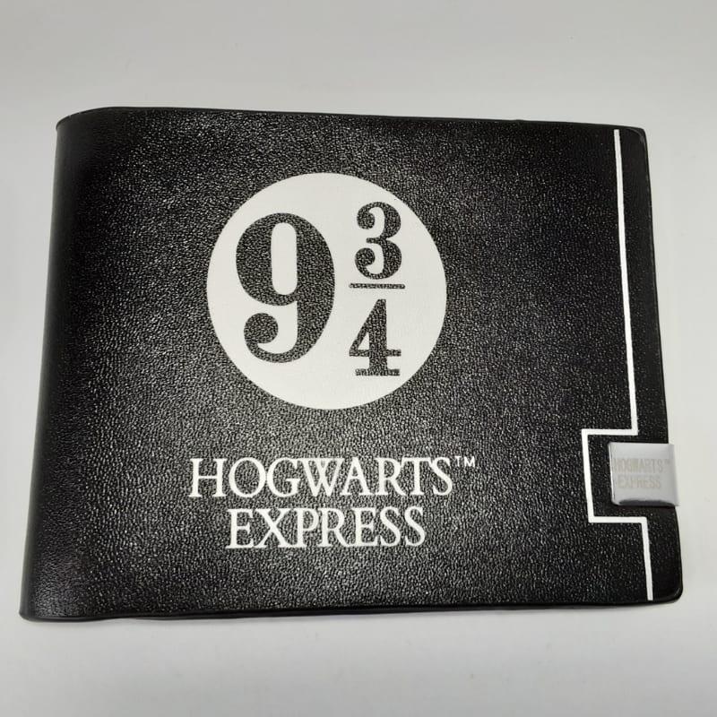 Billetera Plataforma 9 3/4 PT Harry Potter Fantasía Hogwarts Expres Color Negro