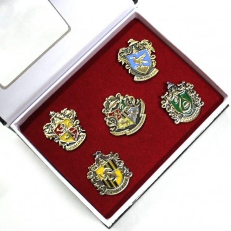 Set Pines Metálicos Casas Hogwarts PT Harry Potter Fantasía