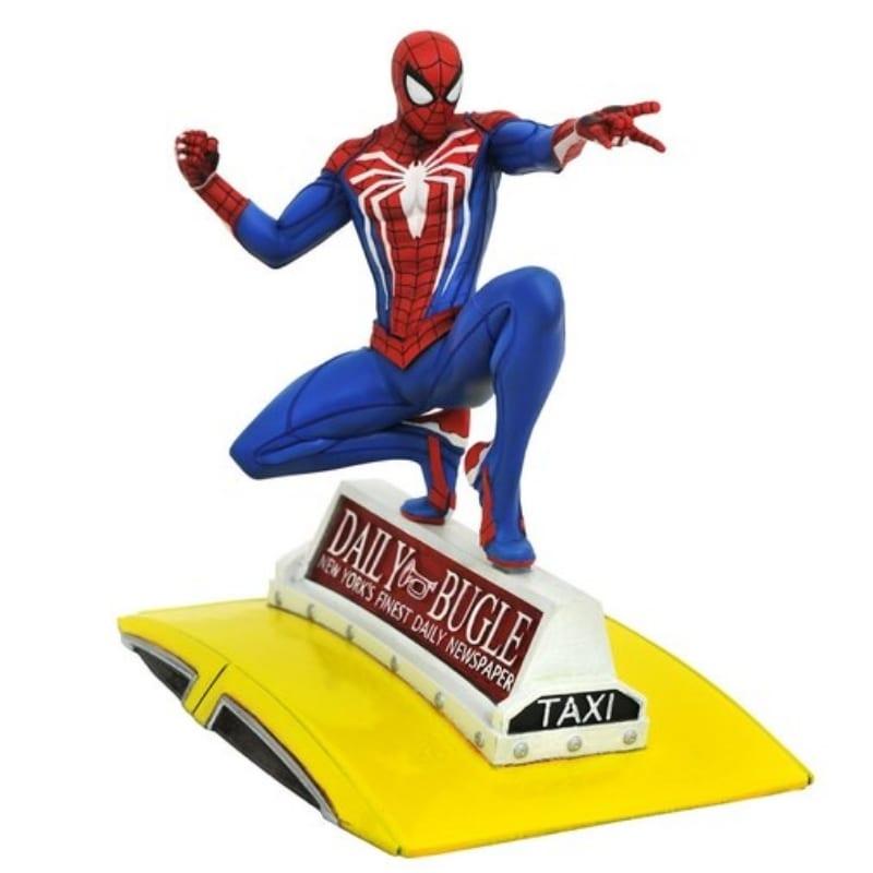 Estatuilla Spider Man On Taxi Gallery Diorama Spider Man Marvel