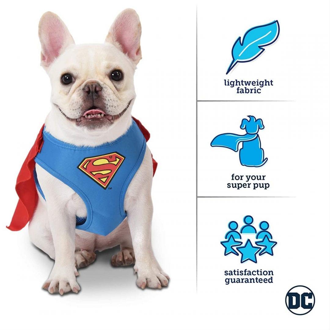 Arnes Disfraz Para Mascota Superman Fetch DC Comics Talla M Raza Pequeña