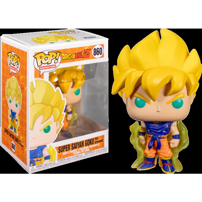 Figura Super Saiyan Goku Funko POP Dragon Ball Animados Resplandor Amarillo