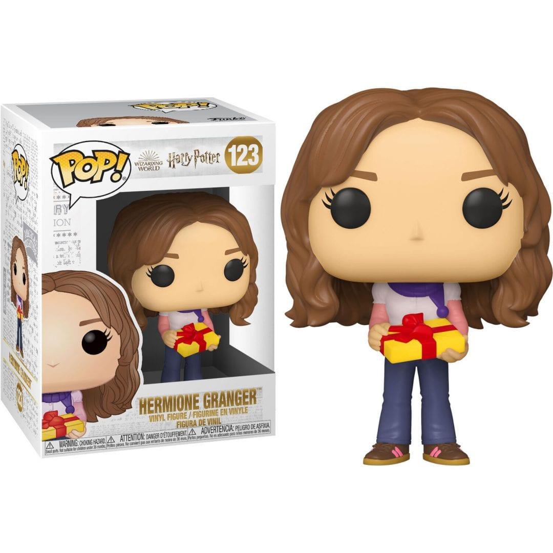 Figura Hermione Gringer Funko POP Harry Potter Series Regalo en mano