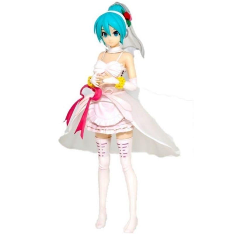 Figura Hatsune Miku PT Vocaloid Anime Vestida De Novia