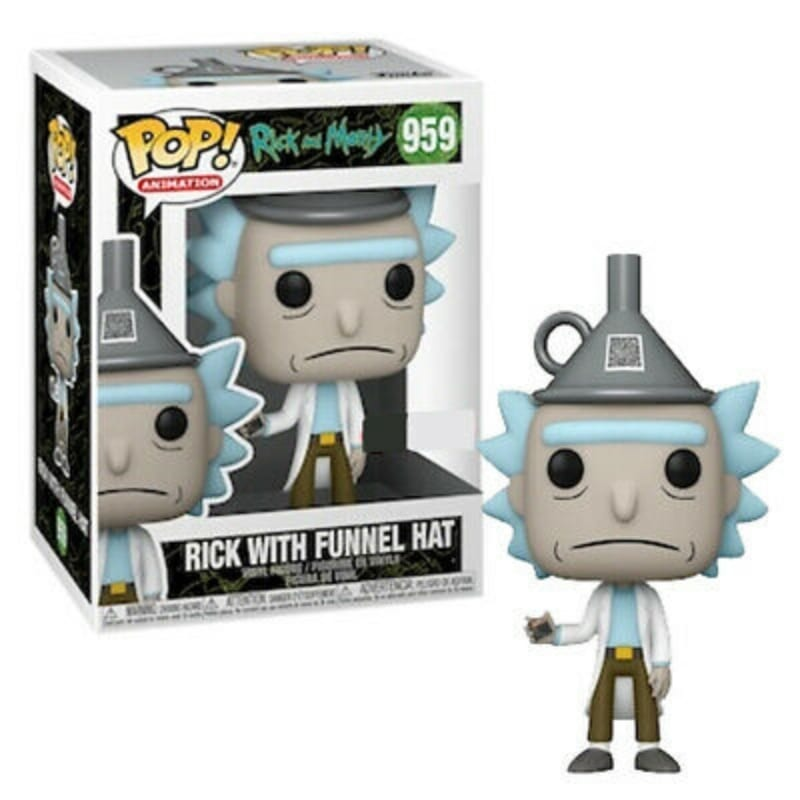 Figura Rick With Funnel Hat Funko POP Rick And Morty Animados