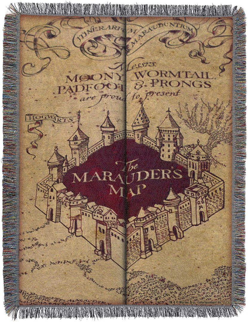 Manta Mapa del Merodeador Harry Potter 48 x 60 Pulgadas