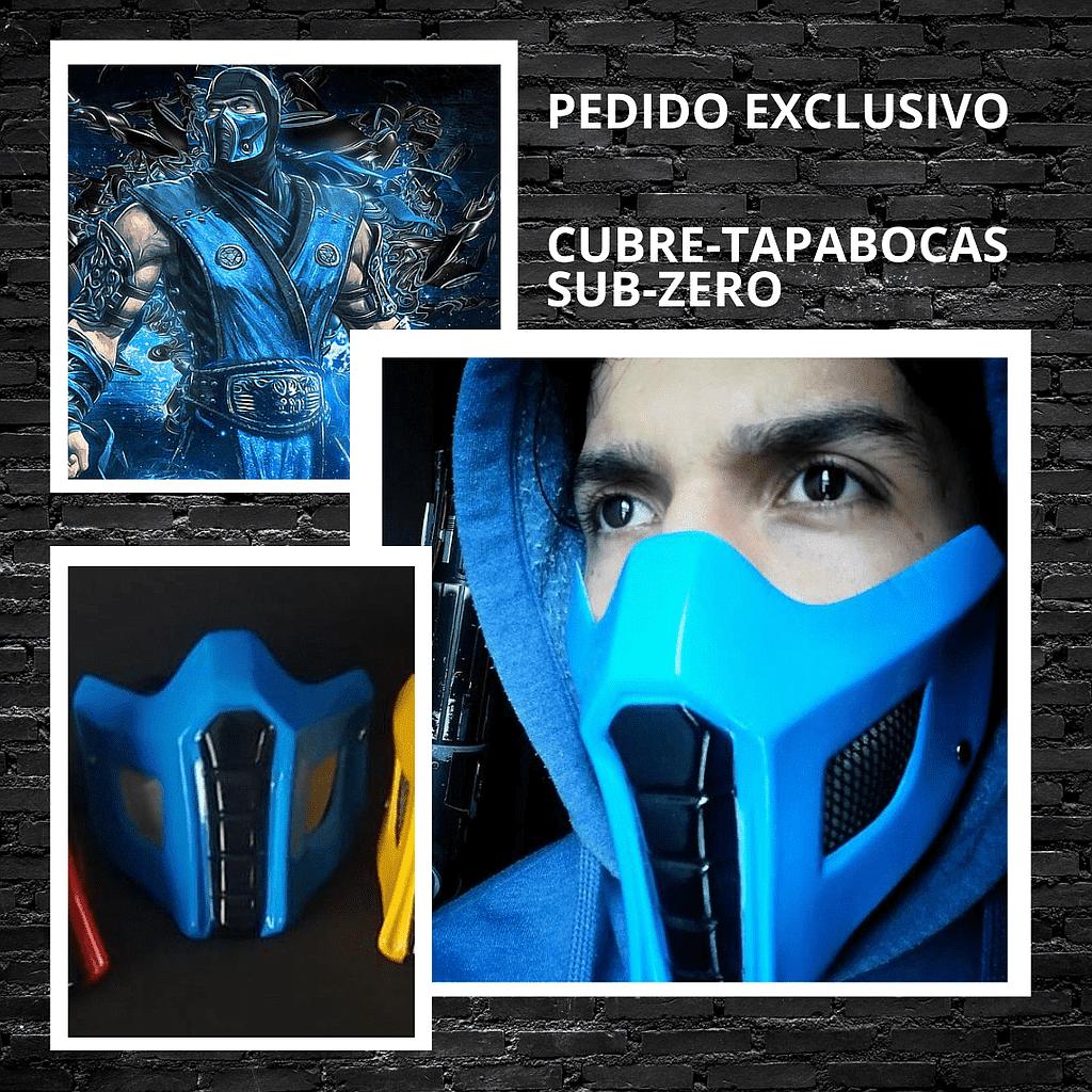 Cubre Tapabocas Sub-Zero CStudio Mortal Kombat Polietileno Calibre 60 Termoformado Azul